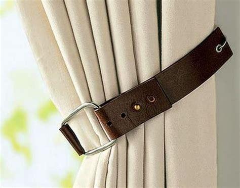 curtain tie back holder mykonos ticker ανακυκλώνοντας μια παλιά δερμάτινη ζώνη