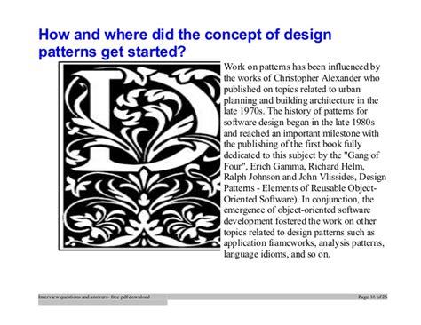 design pattern interview questions careercup top design patterns interview questions and answers job
