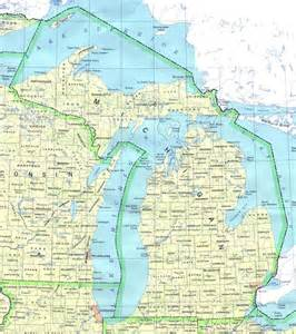 detailed map of michigan state michigan state detailed