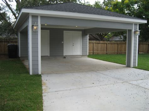 Covered Garage | remodel houston garage carport addition recraft homes