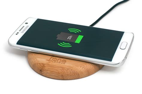 Build A Charging Station by Woodpuck Bamboo Edition Qi Wireless Charging Pad