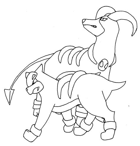 pokemon coloring pages houndoom pokemon lineart by mancy157 on deviantart