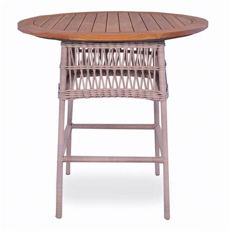 Lloyd Loom Bistro Table Lloyd Flanders Rectangular Tapered Leg Teak Bar Table 286456