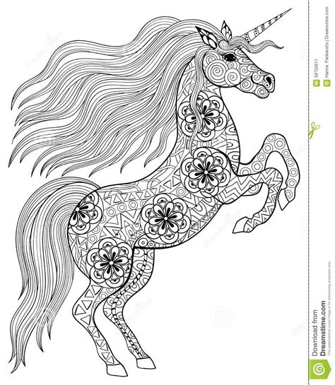 high quality coloring pages for adults magic unicorn for anti stress coloring