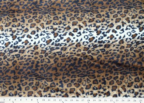 leopard print fabric leopard skin animal fleece fabric print by the yard a19305b