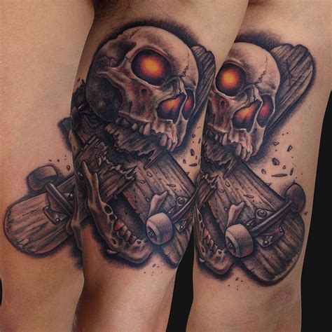 skateboarding tattoos skateboard tattoos designs ideas and meaning tattoos