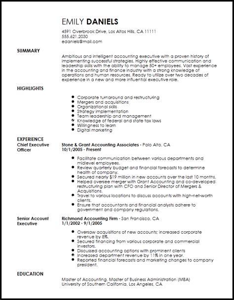 professional executive resume template free free professional chief executive officer resume template