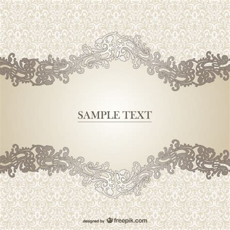 vector elegant floral template vector free download