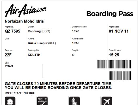 airasia hot boarding pass me and my life air asia check in