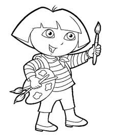 dora coloring pages for print collections