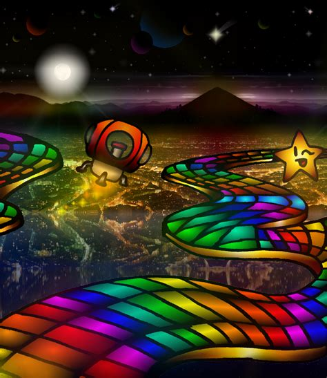 Rainbow Road rainbow road by samukassem14 on deviantart