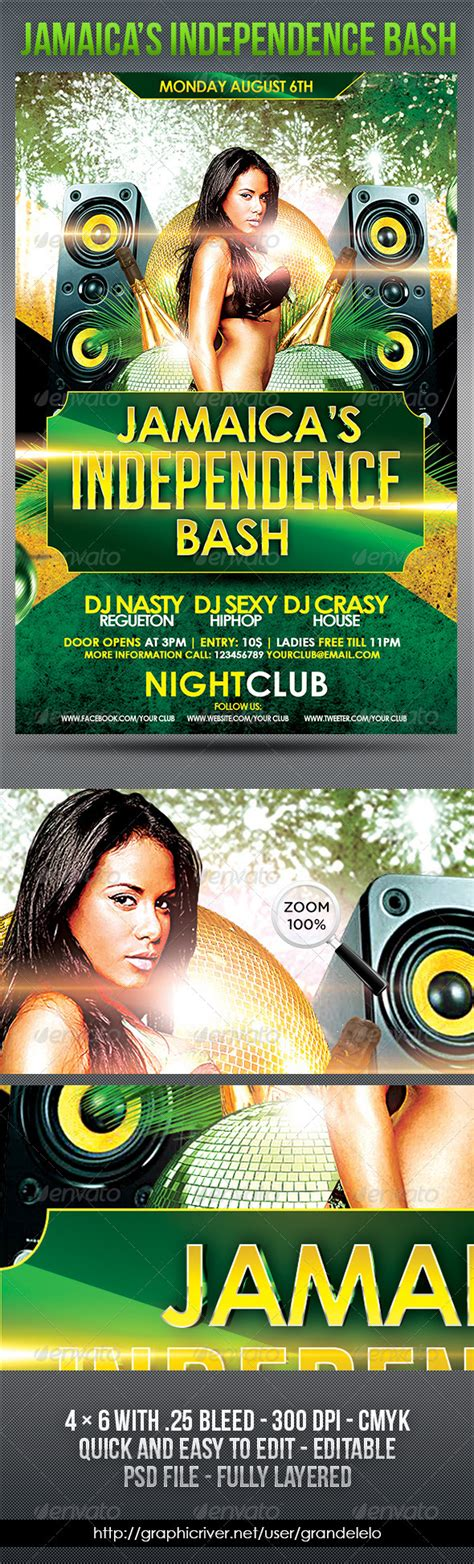 flyer design jamaica jamaica s independence day flyer graphicriver
