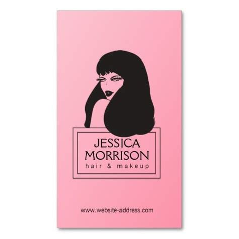 Pinkglam Auction Template 2 by Glam Pink Hair Salon Business Card Business