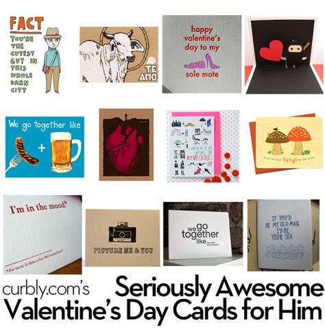 valentines cards for him curbly roundup seriously awesome s day cards