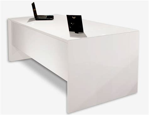 White Executive Office Desk Sh03 White Lacquer Desk Executive