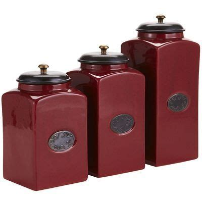 red canisters kitchen decor red ceramic canisters fabuloushomeblog