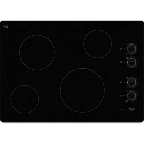 Ceran Cooktop W5ce3024xb Whirlpool 30 Quot Electric Ceran Glass Cooktop