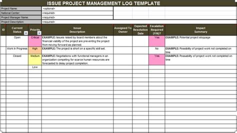 Download Issue Project Management Templates Projectemplates Project Management Fee Template