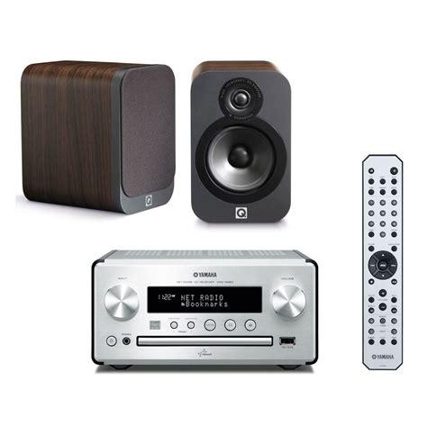Yamaha CRX N560 Argent/Noir   Q Acoustics 3020 Bois