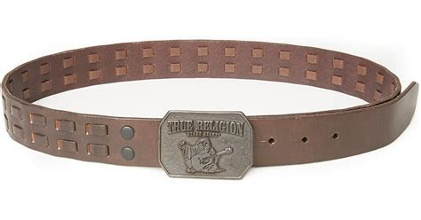 true religion heavy lace mens belt in brown muse