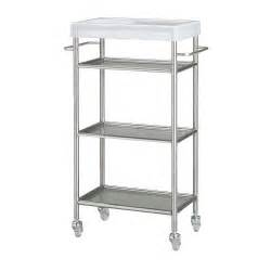 Ikea Vanity Cart Ikea Grundtal Kitchen Bathroom Cart Storage Rolling