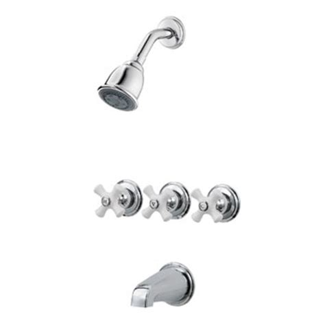 Price Pfister Shower Handle by Price Pfister 01 8cpc Three Porcelain Cross