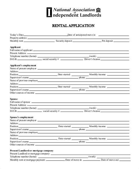 17 Printable Rental Application Templates Free Premium Templates Tenant Rental Application Template