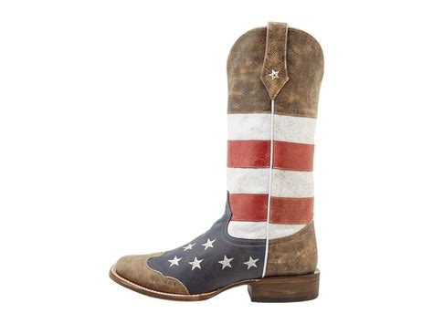 american flag boots roper american flag square toe boot shipped free at zappos