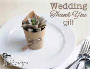 Inexpensive thank you gifts for wedding guests