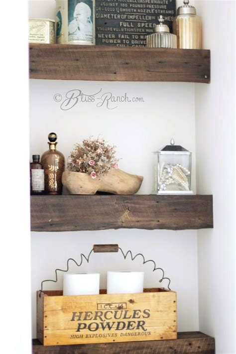 rustic wood bathroom shelves 100 year old barn wood shelves