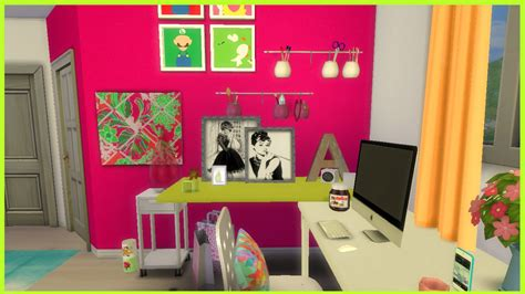 Female Bedroom Decorating Ideas the sims 4 colourful teen bedroom cc youtube