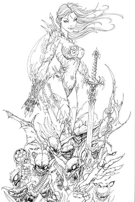 witchblade and the darklings by jamietyndall on deviantart