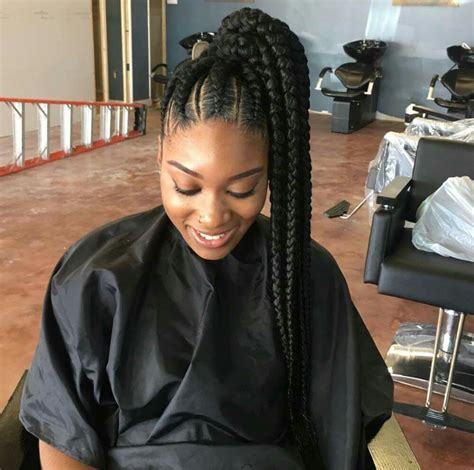black ponytail hairstyles with twists side braided ponytail hair it is pinterest side