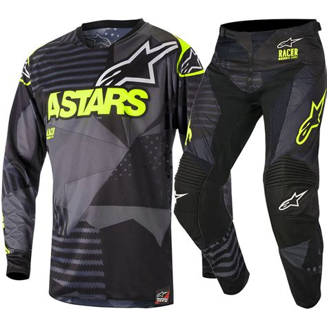 alpinestar motocross gear alpinestars new mx 2018 racer tactical black fluro adults