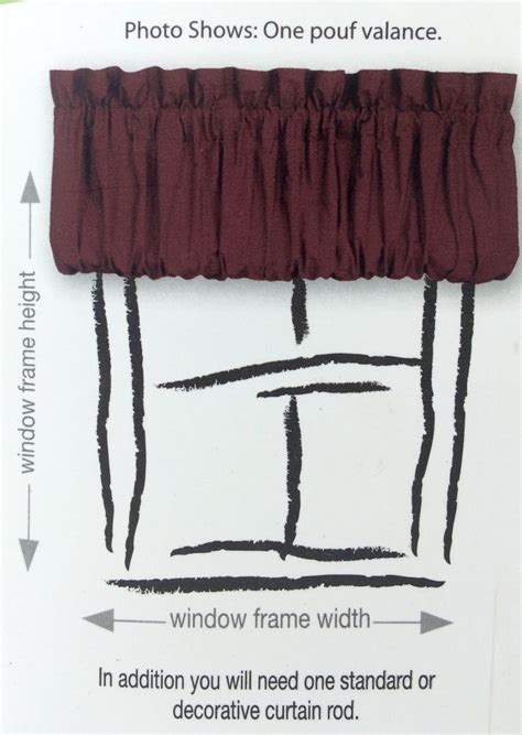 pouf valance curtains window pouf valance burgundy 72x18in ellery homestyles top