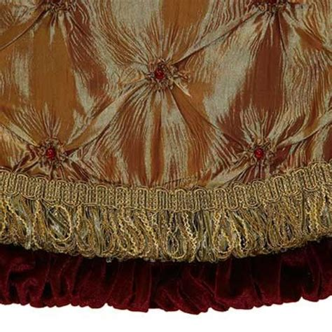 56 quot gold tree skirt with burgundy trim trees elegant