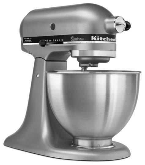 KitchenAid Silver KSM75SL Classic Plus Tilt head 4.5 quart Stand Mixer   Contemporary   Mixers