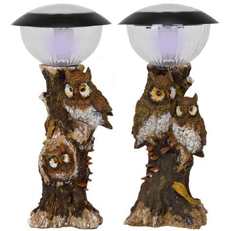 solar powered led ceramic owl outdoor decor light owl solar powered led light l spotlight decorative