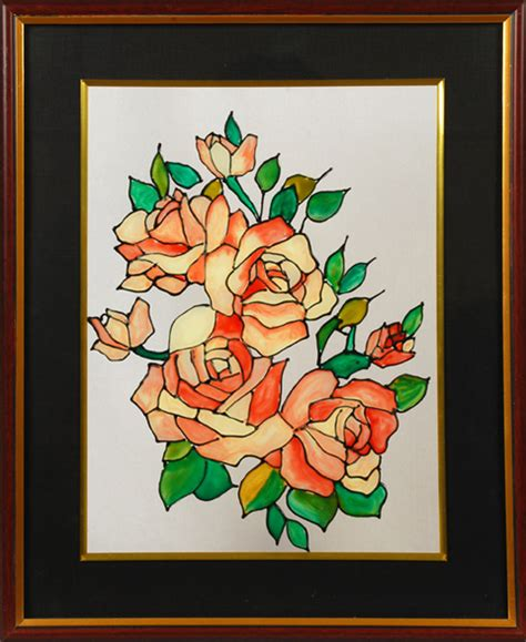 flower design for glass painting indian art paintings ethnic glass painting india indian