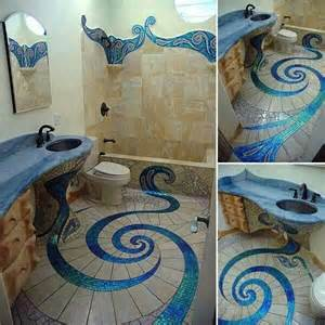 mermaid tile bathroom mermaid style bathroom tile bathrooms pinterest
