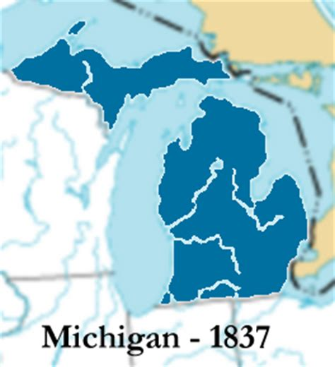 Michigan The 26th State by Michigan Genealogy Michigan History