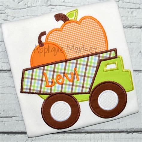 Pumpkin Dump Truck Applique Design by Pumpkin Dump Truck
