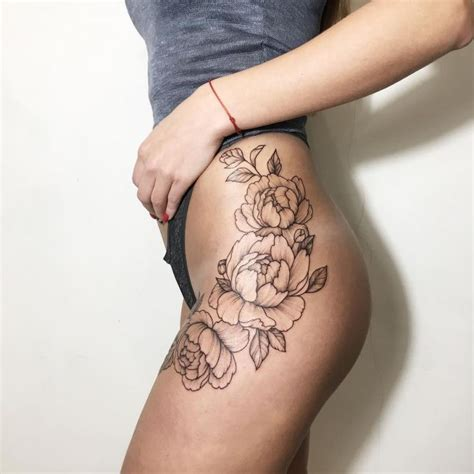side hip tattoo the 25 best ideas about flower thigh tattoos on
