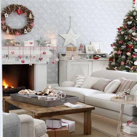 Christmas Living Room Decorating Ideas nostalgic scandi style christmas living room christmas