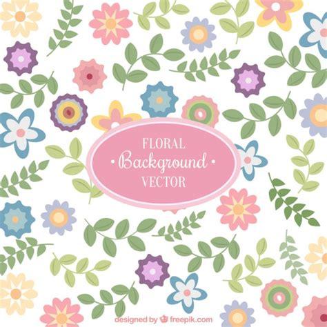 bloemen pastel bloemen achtergrond in pastelkleuren vector gratis download