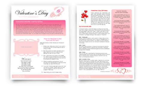 Valentines Newsletter Template worddraw free newsletter templates for microsoft word