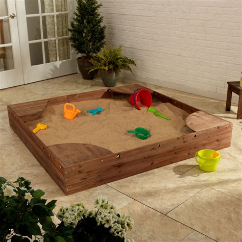 Kidkraft Backyard Sandbox backyard sandbox espresso by kidkraft rosenberryrooms