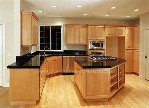 maple kitchen cabinets floor