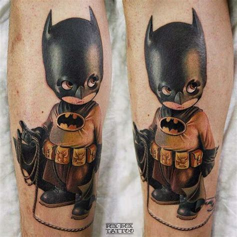 photo realistic batman tattoo by stock holmink tattoo