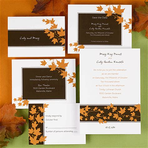Cheap Fall Wedding Invitations by Fall Autumn Wedding Invitations Cheap Fall Wedding